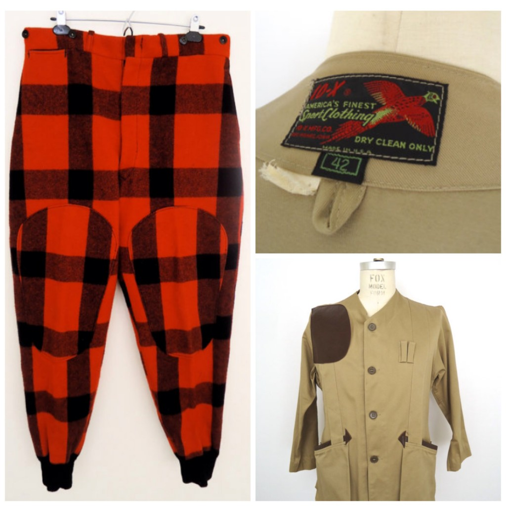 vintage hunting clothing